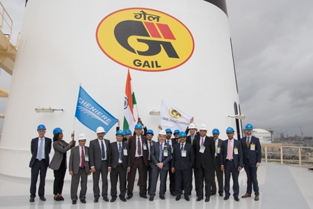 GAIL's LNG Contract with Sabine Pass; first shipment bound for India flagged off from Sabine Pass by C&MD GAIL