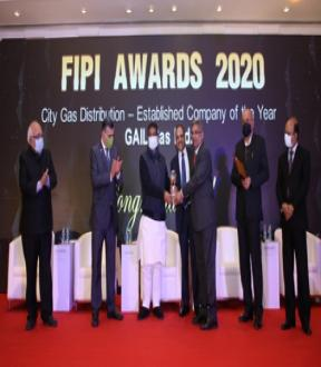 GAIL Gas awarded as 'City Gas Distribution- Established Company of the Year' by FIPI